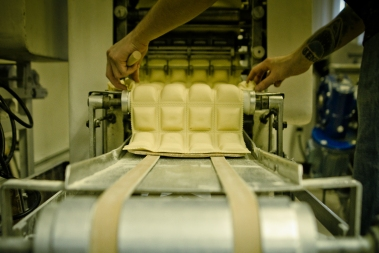 We run fresh cheese ravioli every morning.