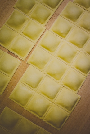 Fresh walnut & gorgonzola ravioli.