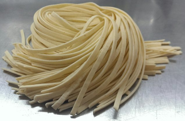 Fresh cut linguine. $3.95/lb