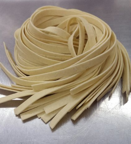 Fresh cut fettuccine. $3.95/lb